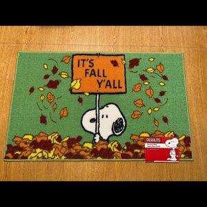 PEANUTS Fall Welcome Mat